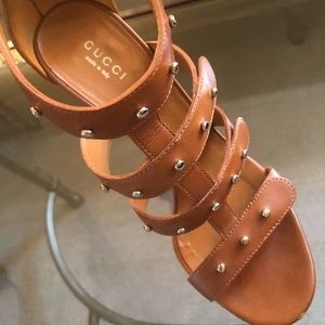 Gucci Shoes - Gucci Sigourney Studded Sandals 37.5
